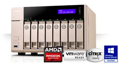 Storage 8 baias até 64TB Qnap