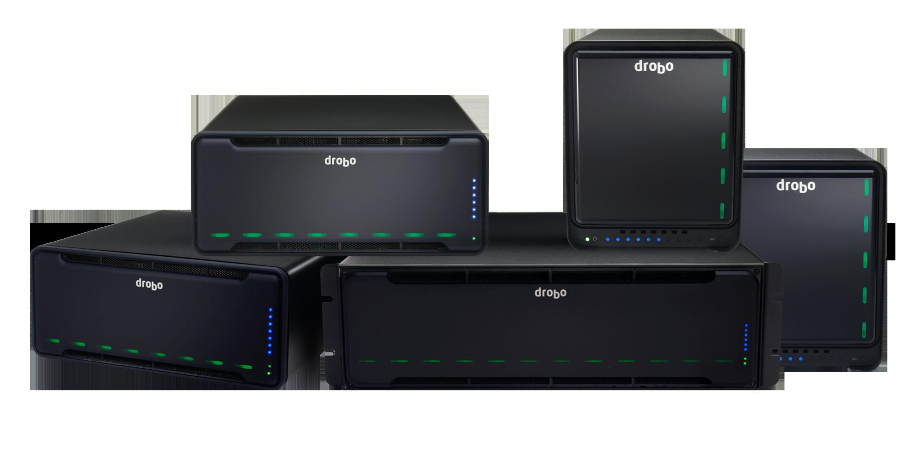 DAS Storage Drobo, Hot spare e BeyondRAID em toda a linha