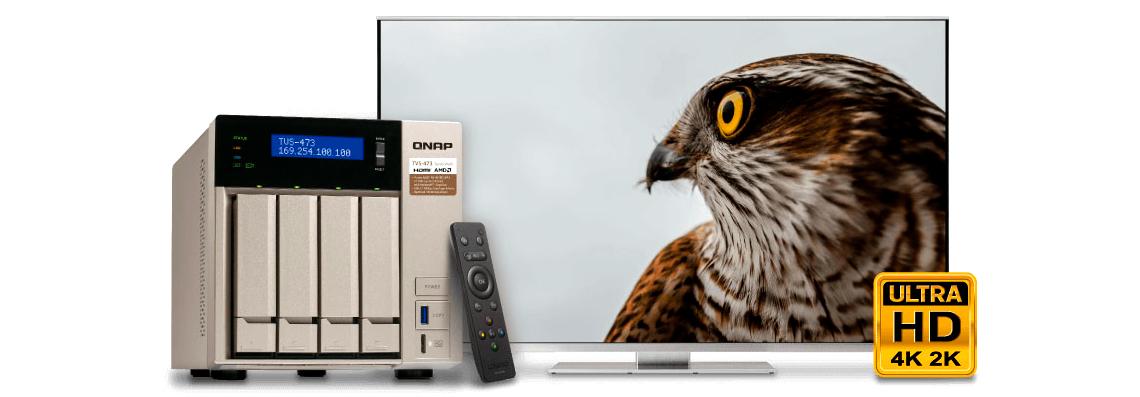 Storage de 40TB e conexão HDMI 4K para melhor experiência multimídia