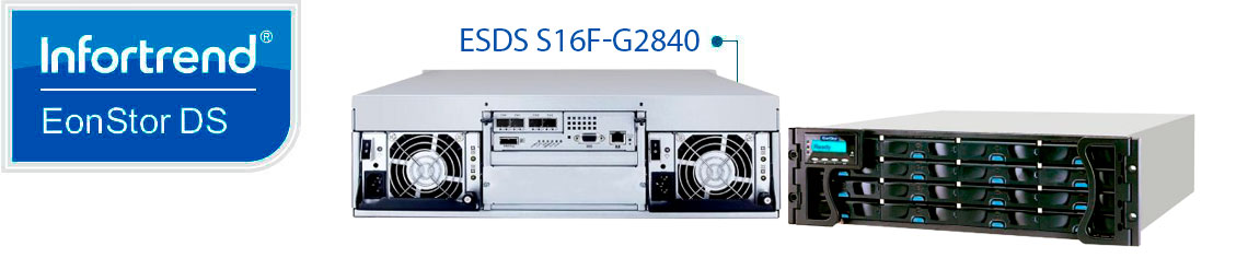 Storage Infortrend ESDS S16F-G2840 Fibre Channel e 16 baias hot-swappable