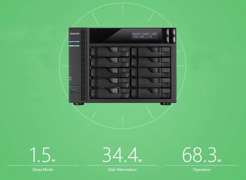 Asustor AS6210T, um 10 Bay NAS disponível 24/7