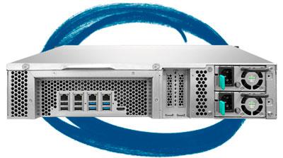 Storage rack 64TB TVS-871U-RP - Características