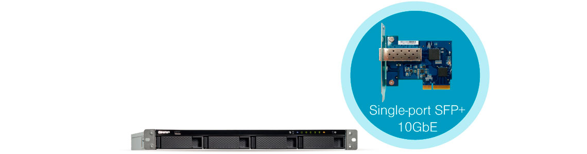 Storage rack TS-463U-RP - Conectividade 10GbE integrada
