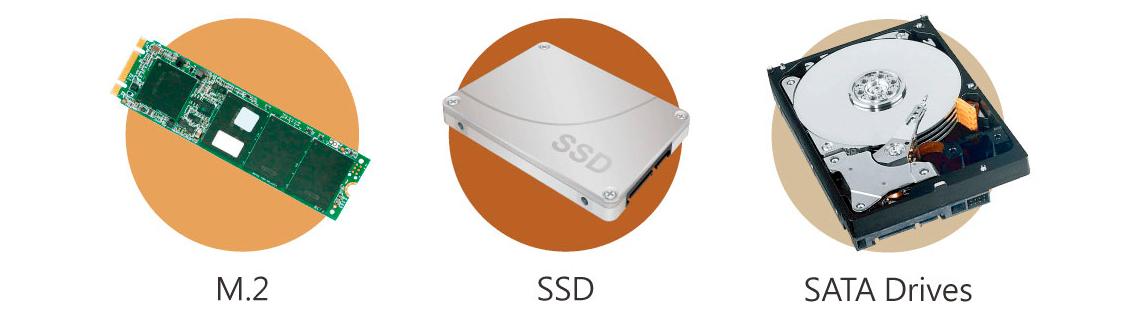 Suporte a SSD M.2 e cache SSD com otimização Qtier