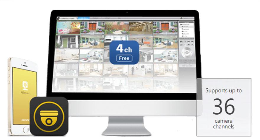 Suporte para câmeras de monitoramento