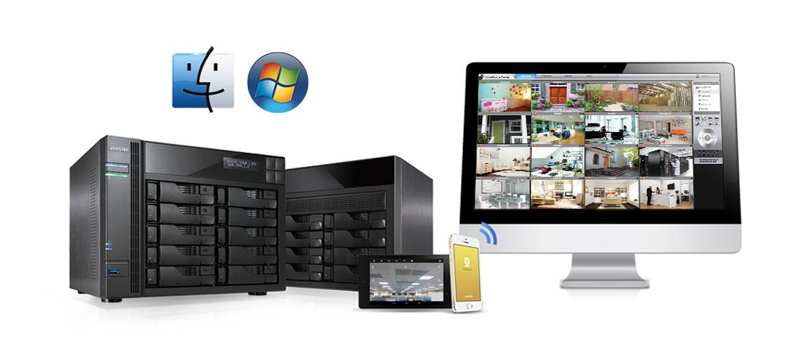 Network Video Recorder para até 64 câmeras de vigilância IP