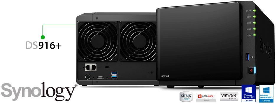 Synology DS916+, storage NAS robusto e de alto desempenho