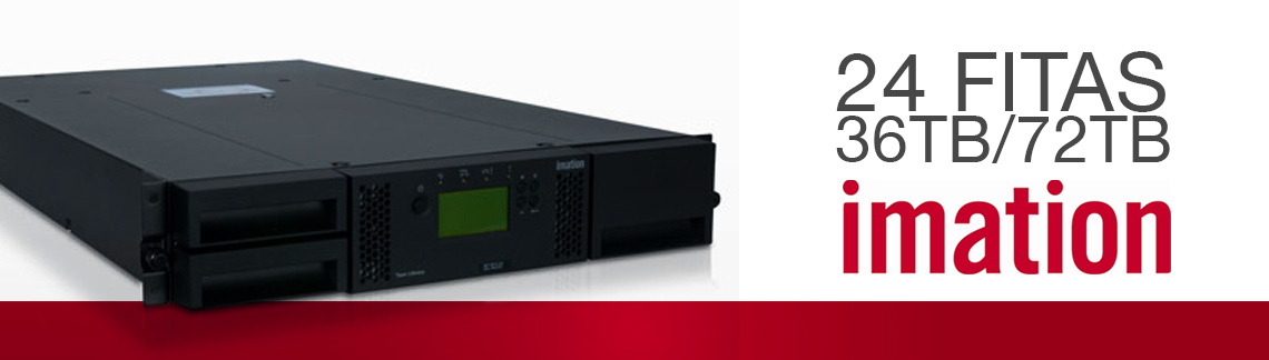 L1200 Imation, a tape library LTO para 24 fitas