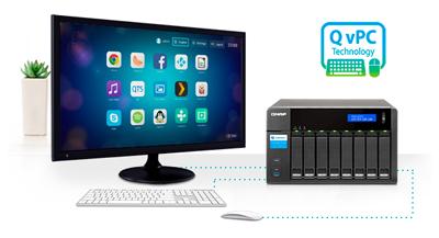 Tecnologia QvPC - Utilize o TVS-871T como um PC