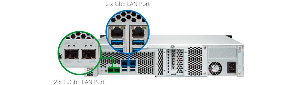 TS-1231XU Qnap, um servidor com agregação de link para trabalho contínuo