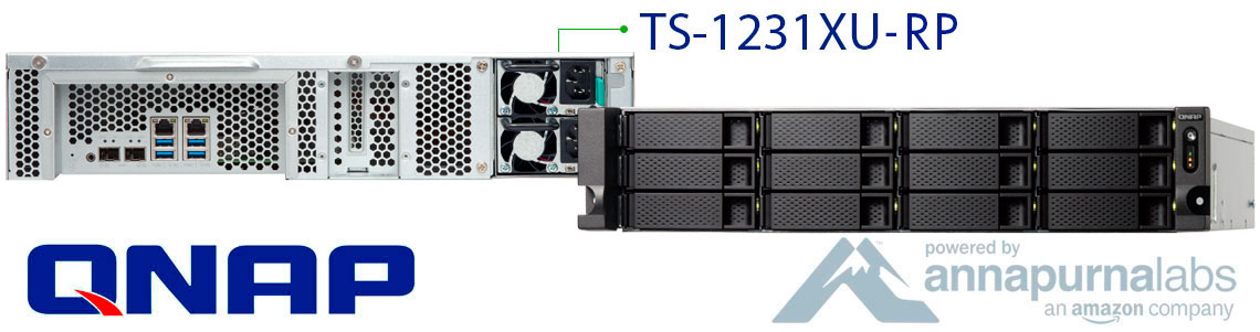 TS-1231XU-RP Qnap, turbo NAS completo para empresas