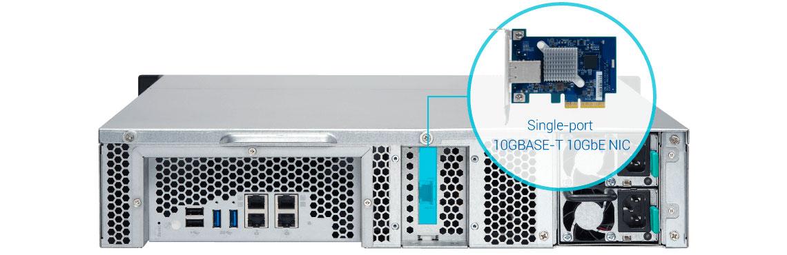 TS-1263XU-RP, NAS com conexão 10GbE