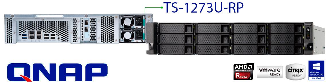 TS-1273U-RP servidor cloud Qnap até 120TB de espaço!