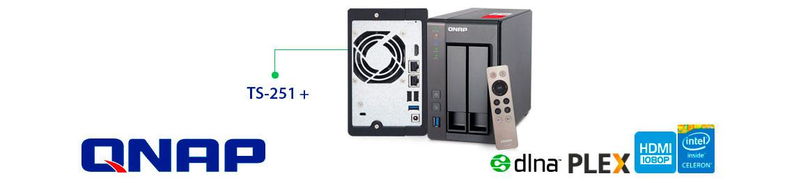 Qnap TS-251+, 2 Bay NAS e servidor multimídia dlna