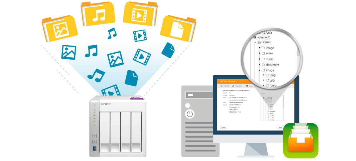 TS-431P2 Qnap, storage com sistema de organização automática de arquivos