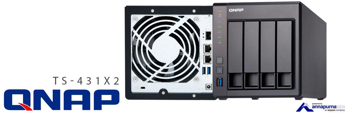 TS-431X2 Qnap, storage 16TB com conexão 10GbE