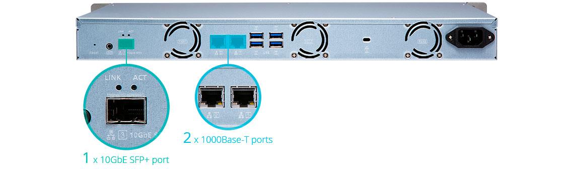 TS-431XeU Qnap, storage gigabit com funcionamento ininterrupto 24x7