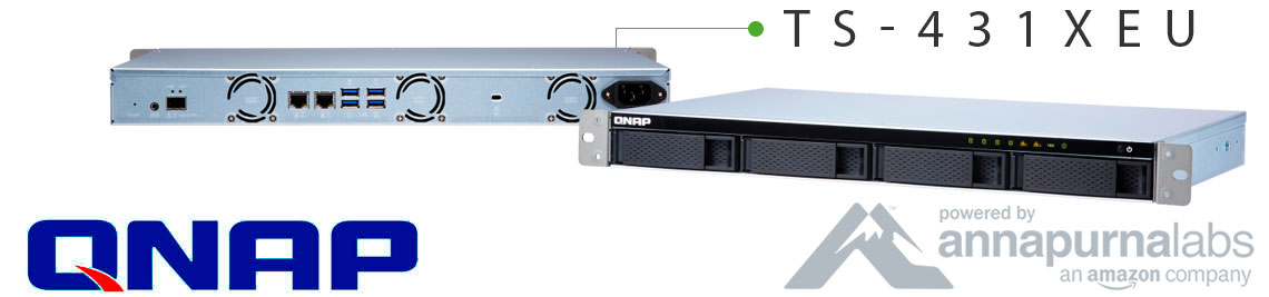 TS-431XeU Qnap, storage rackmount compacto
