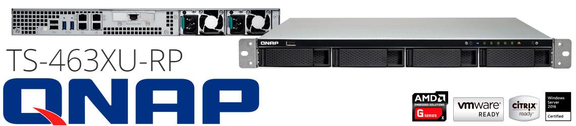 TS-463XU-RP Qnap, servidor NAS 4 baias hot-swappable com uma porta 10GbE