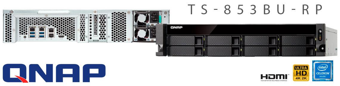 TS-853BU-RP Qnap, storage enterprise rackmount 8 baias