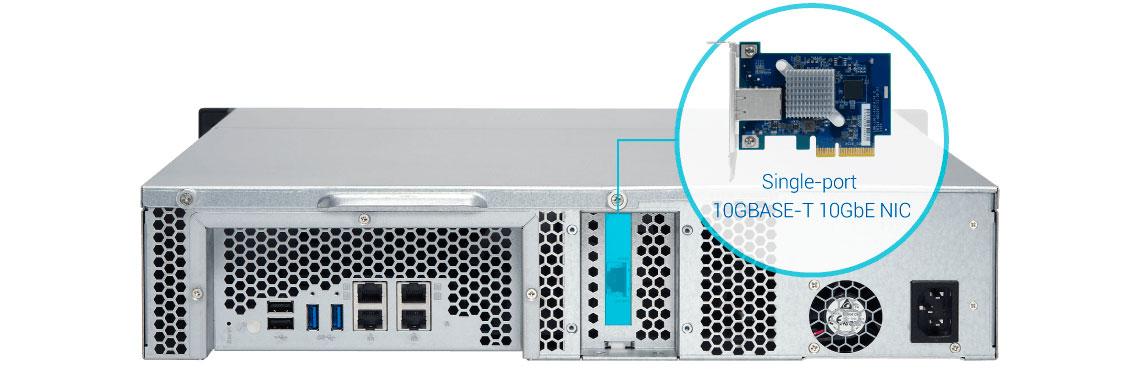 TS-863XU, conexão 10GbE integrada