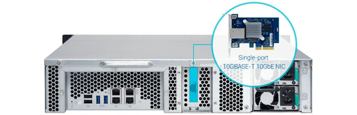 TS-863XU-RP, storage com conexão 10GbE