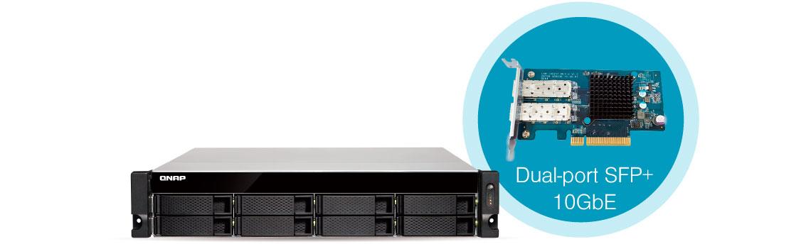 TS-873U-RP Qnap, storage com portas 10GbE conexão de alta velocidade