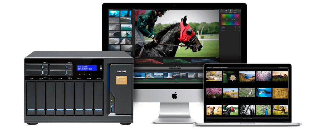 TVS-1282T, storage ideal para usuários Mac
