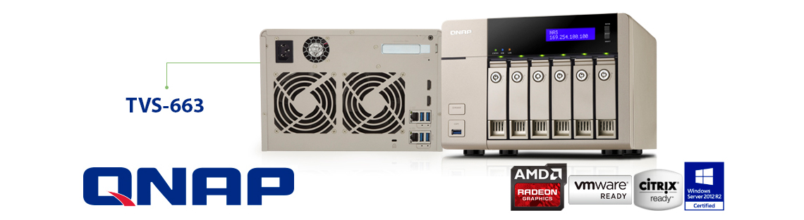 TVS-663 Qnap, armazenamento seguro e eficiente