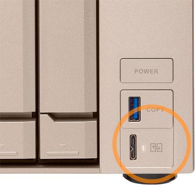 TVS-673e, storage NAS com porta USB de acesso direto aos arquivos
