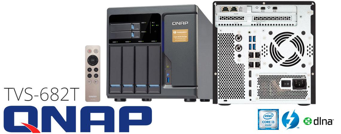 TVS-682T Qnap - storage Thunderbolt 2, solução DAS, NAS ou iSCSI SAN