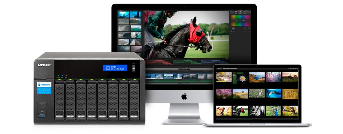 TVS-871T - Ideal para usuários Mac equipado com Thunderbolt 2