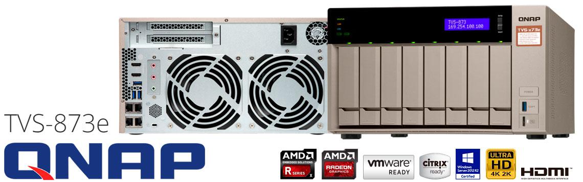 TVS-873e Qnap, servidor de backup 8 baias hot-swappable até 96TB