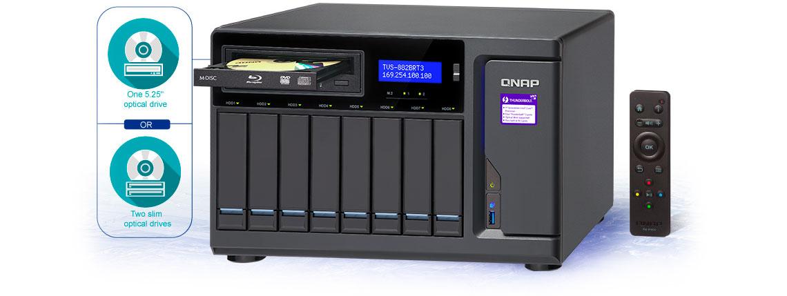 TVS-882BRT3 Qnap, NAS para backup e compartilhamentos rápidos