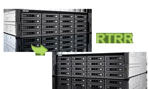 TVS-EC1280U-SAS-RP R2, compatível com protocolos RTRR e Rsync