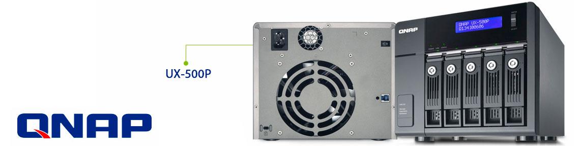 UX-500p Qnap expansão de cinco baias