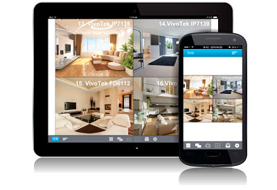 Vigilância com aplicativos móveis no VioStor NVR 8 câmeras