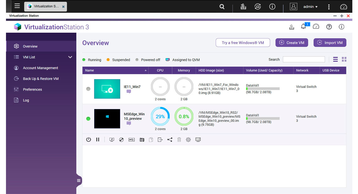 Virtualização de alta flexibilidade e switches virtuais