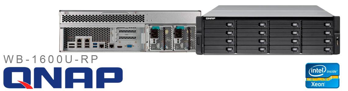WB-1600U-RP, servidor Qnap 16 baias e 4 portas LAN